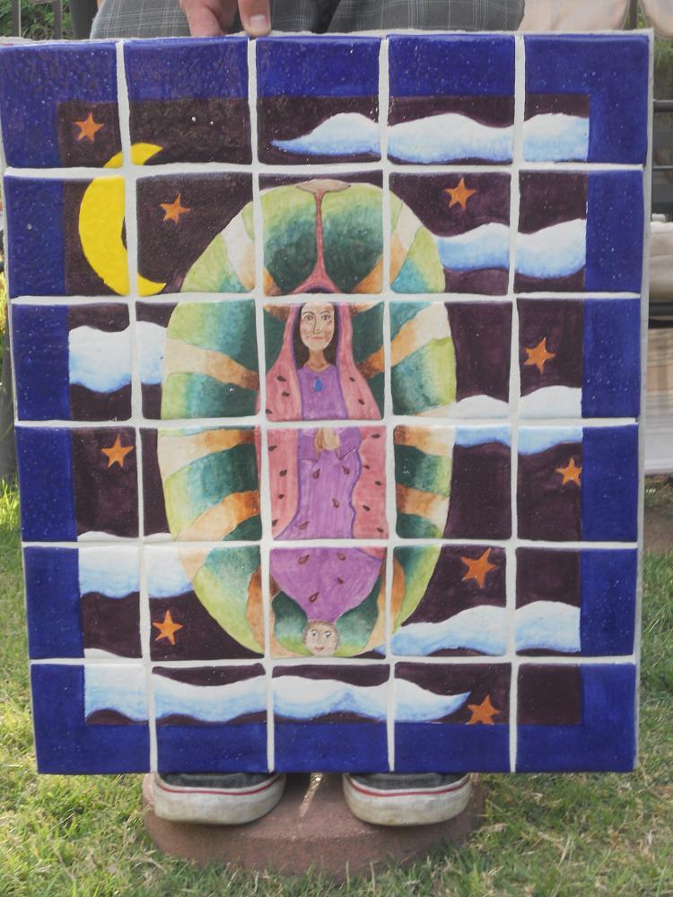 """La Virgen y la Sandia 20"""" x 24"""""""